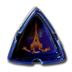 Mini cendrier triangle Tour Eiffel (Bleu)